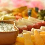 カラフルグリル野菜とハーブクリームソース