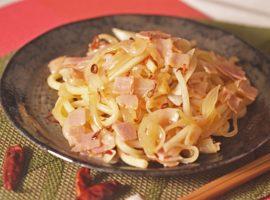 【ワンパン料理】ペペロンチーノうどん