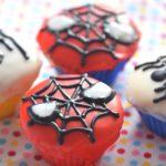 スパイダーマンカップケーキ