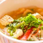 豆腐と春雨の中華風スープ