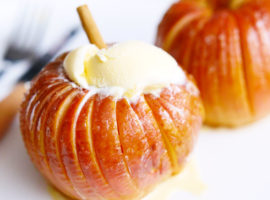 【5ステップ 】まるごと!焼きりんごのハッセルバック Grilled apple