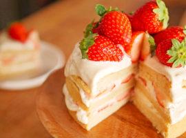 【ビーガン】卵・乳製品・小麦粉を使わない!『いちごのショートケーキ』の作り方