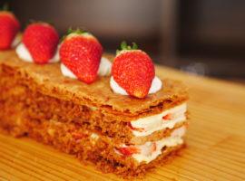 【ASMR・NoBGM】いちごミルフィーユの作り方 ~ Strawberry Mille-Feuille
