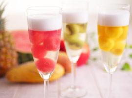 【パーティーに!】シャンパン風フルーツボールのゼリーの作り方