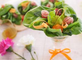 【プレゼント】感謝の気持ちを込めて♡花束サラダ(ブーケサラダ)の作り方